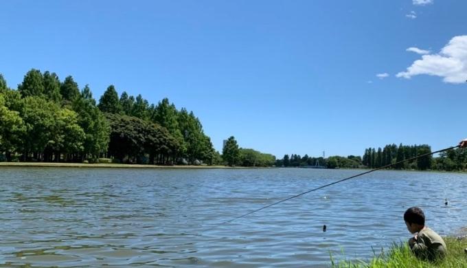 水元公園_釣り姿