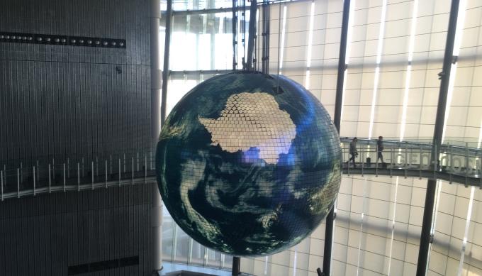 未来科学館_地球儀