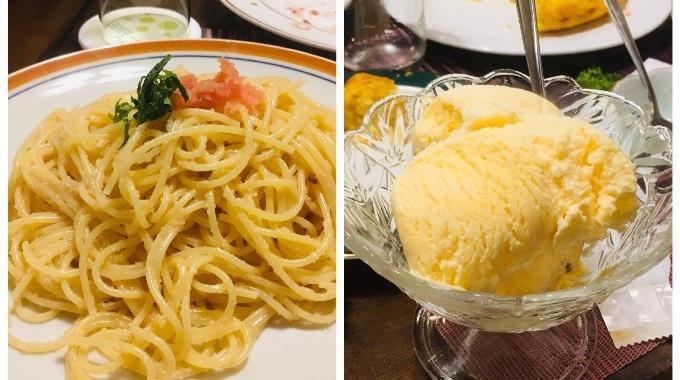 アルトピャーノ_スパゲティーとアイス